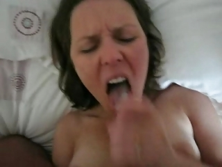 hot wife gulp her mans load
