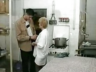 granny screwed in restaurant kitchen xlx