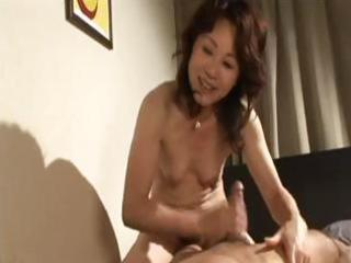 lustful japanese milf gives him head and then