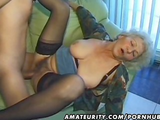 old non-professional mature wife sucks and
