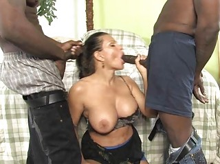 busty d like to fuck gets ravaged by two knobs in