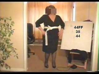 shy mature striptease 11