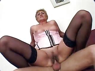 granny acquires fucked and creampie