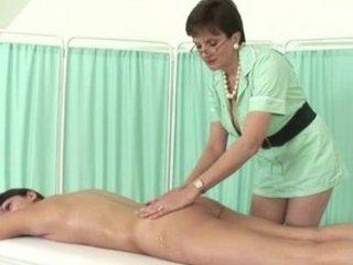 british chic older nurse receives bawdy
