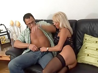 sexy, aged blonde acquires drilled in her pierced