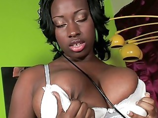 busty ebony d like to fuck vixen masturbates in