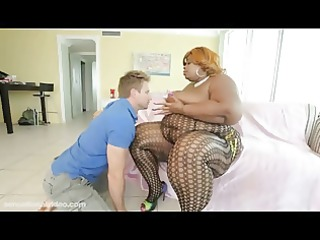 dark big beautiful woman superstar with 103 inch