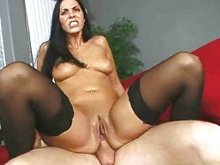 mommy gets her dark hole stuffed full of penis
