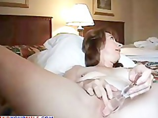 lascivious older wife anal masturbating
