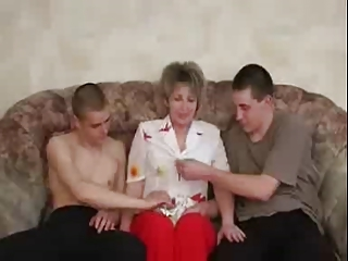 russian mature have a fun with boys