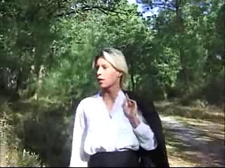 golden-haired wife fucked in forest