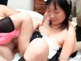 lusty asian mature maiden joining a hardcore orgy
