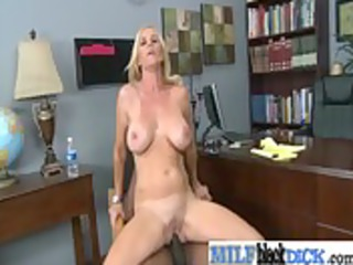 sexy milf have a fun fucking hard black dong