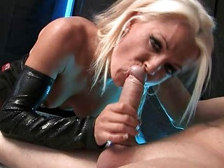 sensual golden-haired milf with large love