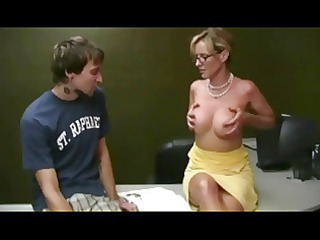 hot mother i helping student by troc