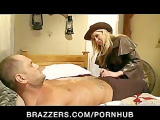 big tit blonde pornstar alanah rae bounty hunter