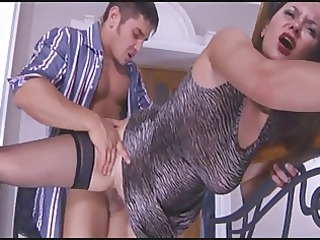 stepmom caught when he is masturbate