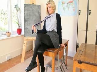 pleasant teacher teasing body just for