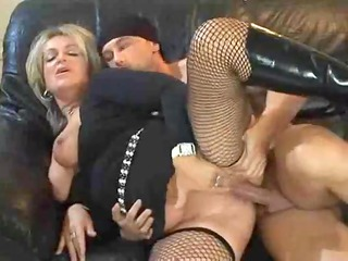 sexy blond euro mature banging in boots