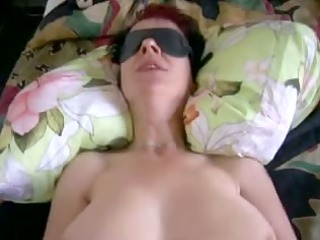 german milf non-professional eating cum
