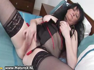 granny in sexy darksome lingerie t live without