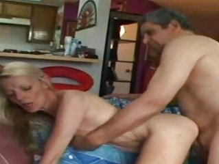 wild granny riding a hard cock after playing with