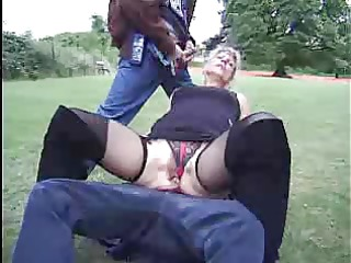 mature french woman double facial