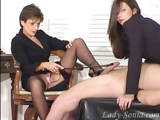fetish ladies playing with a jock