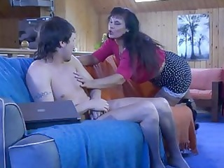 seductive mature chick shows a hung lad