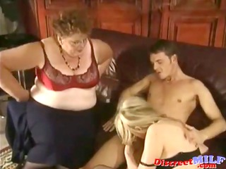 milf and granny receive fucked