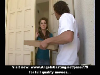 hawt dark brown does blowjob and cook jerking for