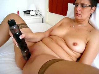 mature slut and her large toy