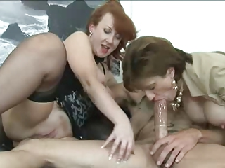 group sex - 9 matures and 0 lad