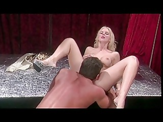 hot hannah rides an actors thick ramrod on stage