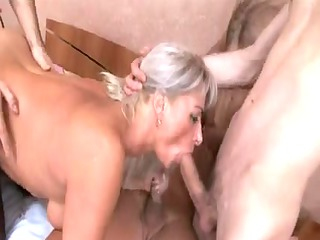 concupiscent busty sexy mature team-fucked -b$r