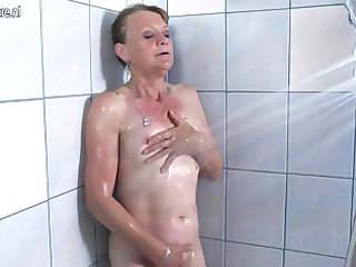 priceless grandmother getting dirty in her