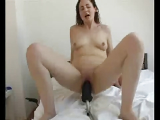whore wifes 6rd practice with giant sex tool