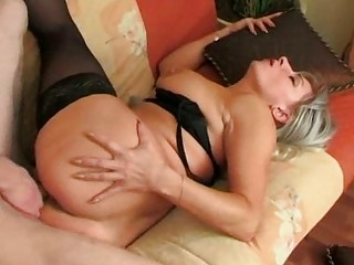 he is wakes up nylons granny and fucks her