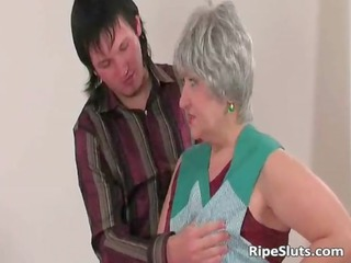 breasty plump older bitch receives juicy beefy