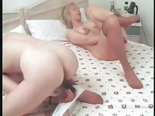 older lesbians remove hose for fingering