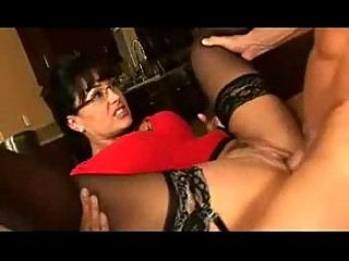 mother i wearing sheer hot nylons enjoys oral