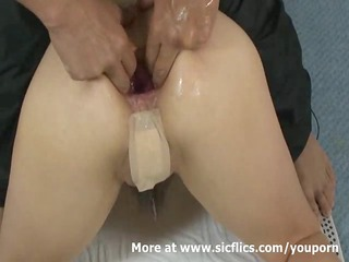 fisting the wifes ass and extreme anal pumping
