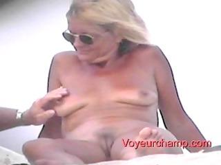 stripped beach milf s teasing!