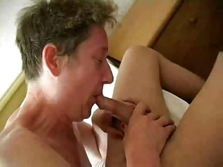 horny old granny copulates youthful pounder and