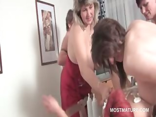 orgy lesbian matures take up with the tongue