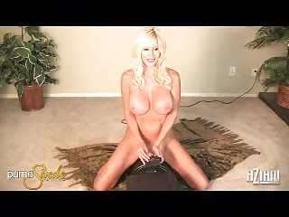 sexy busty milf puma swede rides her gap on a