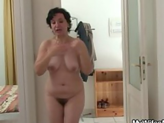 wife going wild when finds him fucking her mommy
