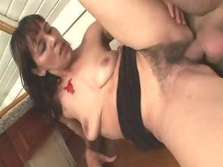 bushy mature whore getting her fur pie dicked