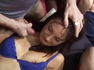 redhead and slender milf are drilled