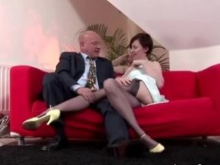 aged stocking oral-sex pussy licking pair